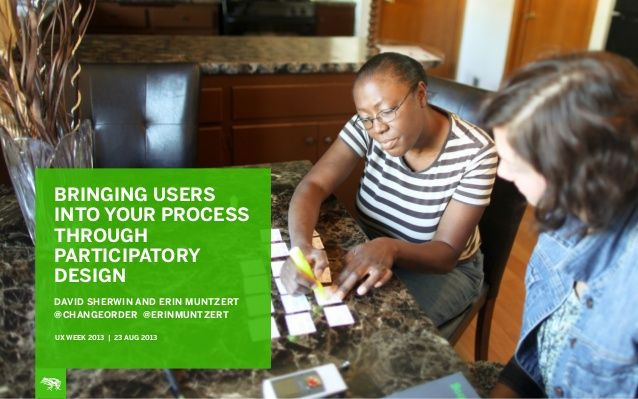 Bringing Users into Your Process Through Participatory Design by frog  via slideshare From Frog Design