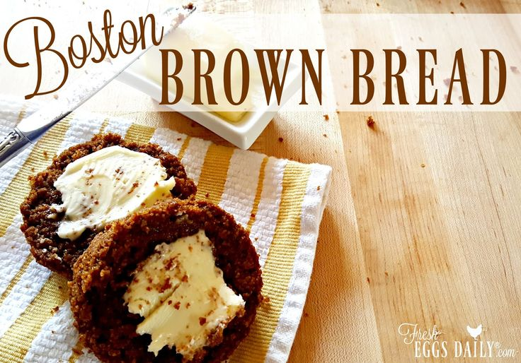 Boston brown bread was traditionally baked in a tin can, making this bread not only delicious, but fun to make!