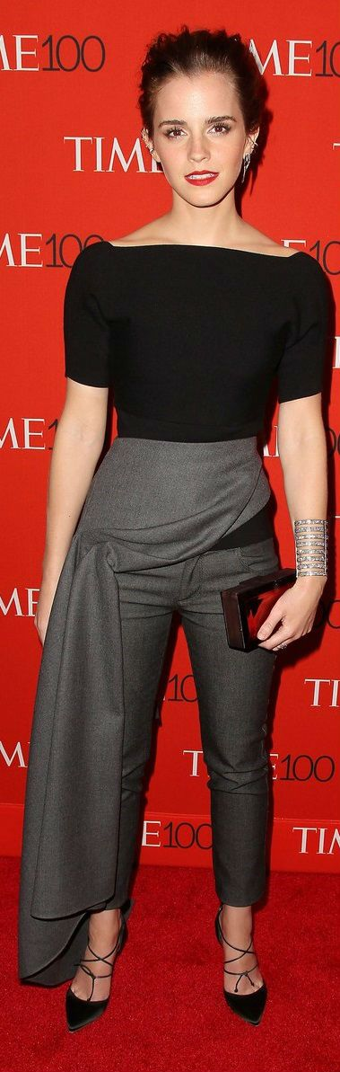 Emma Watson in Dior with a Eva Fehren cuff and Rauwolf clutch