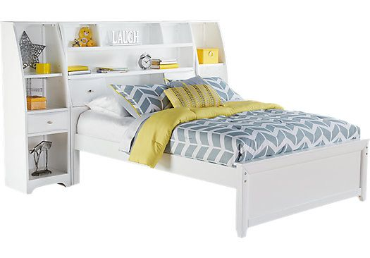 Shop for a Ivy League White 5 Pc Full Bookcase Wall Bed With Storage Piers at Rooms To Go Kids. Find  that will look great in your home and complement the rest of your furniture.