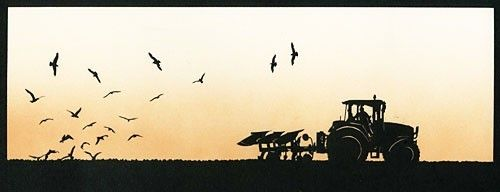 Tractor Silhouette cut out