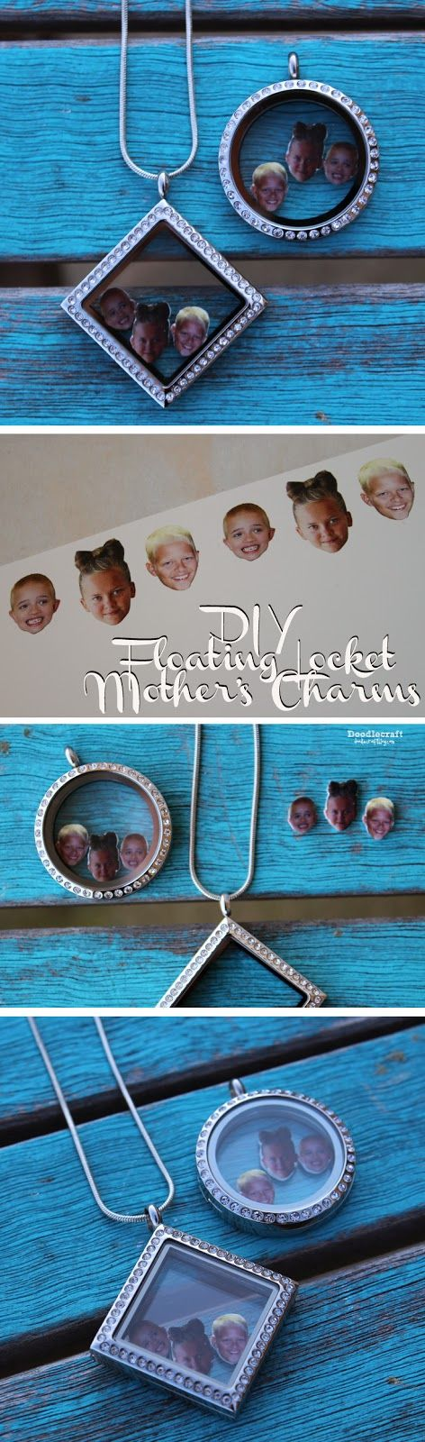 DIY Mother's Charms for Floating Locket Necklace