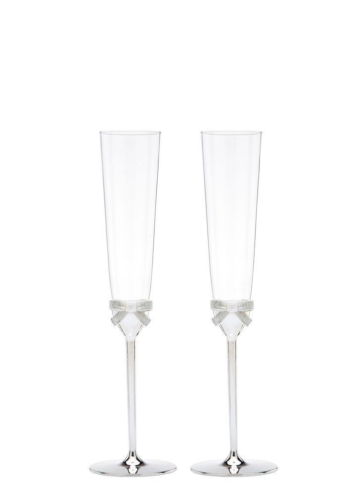 Fifth Avenue Toasting Flutes Kate Spade Grace Avenue Toasting Flute Pair Wedding Champagn In 2020 Toasting Flutes Flute Champagne Toasting Flutes