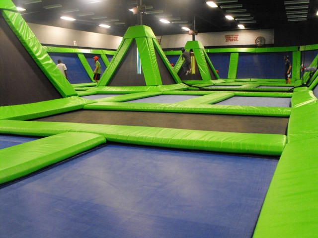 Trampoline room! Anyone who got too unruly would be banished to 'The Room of One Thousand Bounces'.