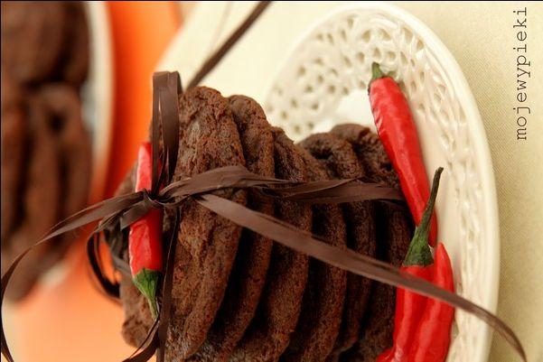 Moje Wypieki | Ciastka czekoladowe z chilli
