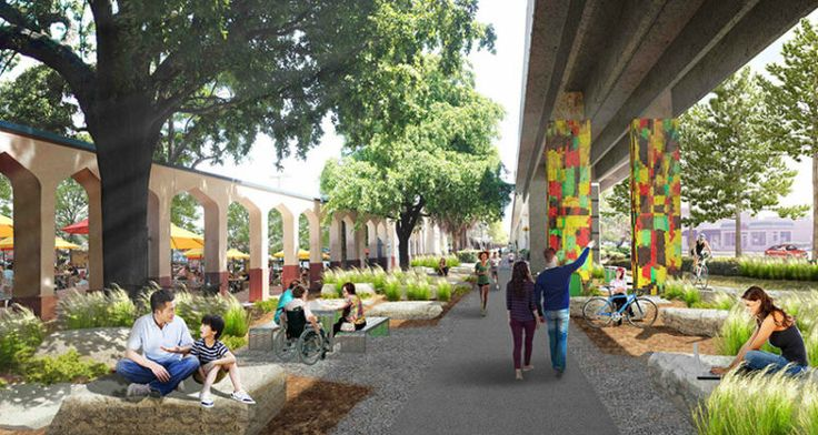 [On lit] New linear park in miami under metrorail - Arch2o @Arch2O