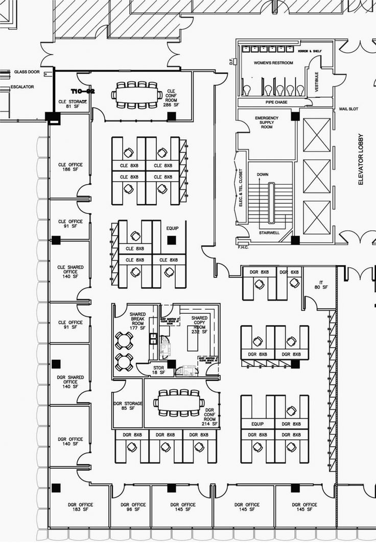 Office space layout ideas for large office design ideas for Office layout design