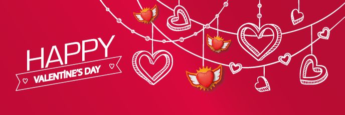 Free email templates for food industry in Valentine's Day