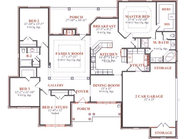 European style house floor plans with european home plan Classic bungalow house plans