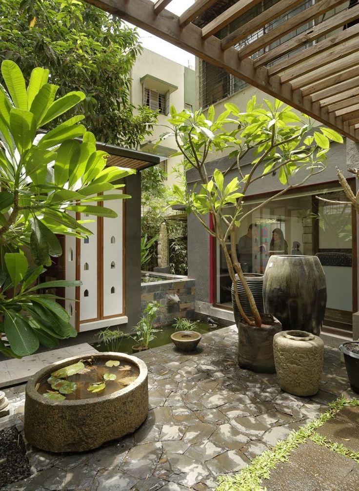 Architecture Home Design Exteriors Patio Tropical