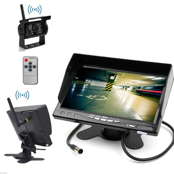 HAIN 7 inch Wireless Backup Camera and Monitor Kit Bus Big Truck Caravan Parking System with LCD Monitor Screen and Wireless reversing rearview rear view backup camera