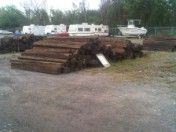 This guy has railroad ties for sale cheap!!!