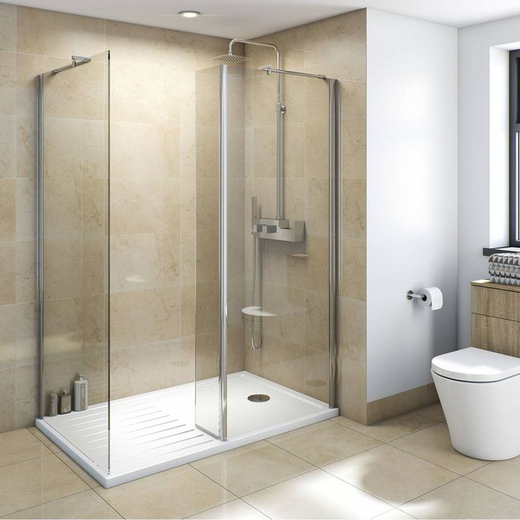 Mode Luxury 8mm Walk In Enclosure Pack With Tray 1600 X 800 | Glass Panels,  Shower Enclosure And Minimalist