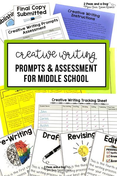 Get your students excited about writing with these no prep creative writing prompts. Students will select their topic from 20 different writing prompts. These prompts can be used as a stand-alone assignment, sub plans or enrichment task. Integrate these prompts into your Writer's Workshop classes or any ELA writing lesson. ($) #creativewriting #teacherspayteachers #englishlanguagearts #writing #lessonplans