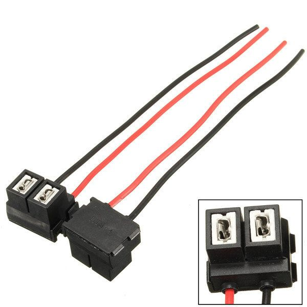 2 Pins H7 12/24V Headlight Repair Bulb Holder Connector Plug Wire Socket Replacement