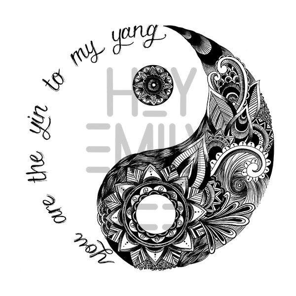 Pin De Louise Blomberg En Truquillos Tatuajes Yin Yang Tatuaje Punto Y Coma Tatuaje Ying Yang