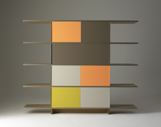 Angelo Mangiarotti, Multiuse Storage System with Sliding Panels, 1964.