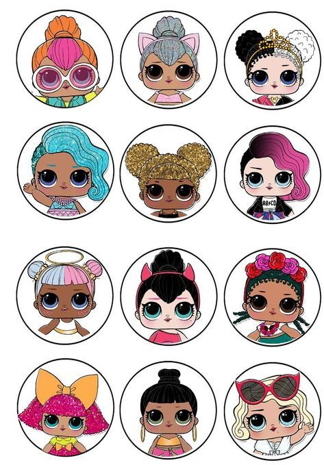 L.O.L. surprise cupcake toppers 2 | birthday | Lol dolls, Party, Lol
