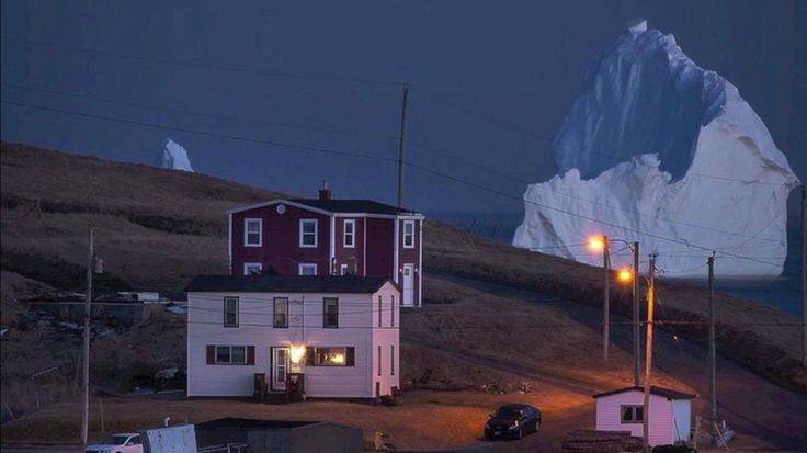 Przez wielką lodową górę do niewielkiego miasteczka