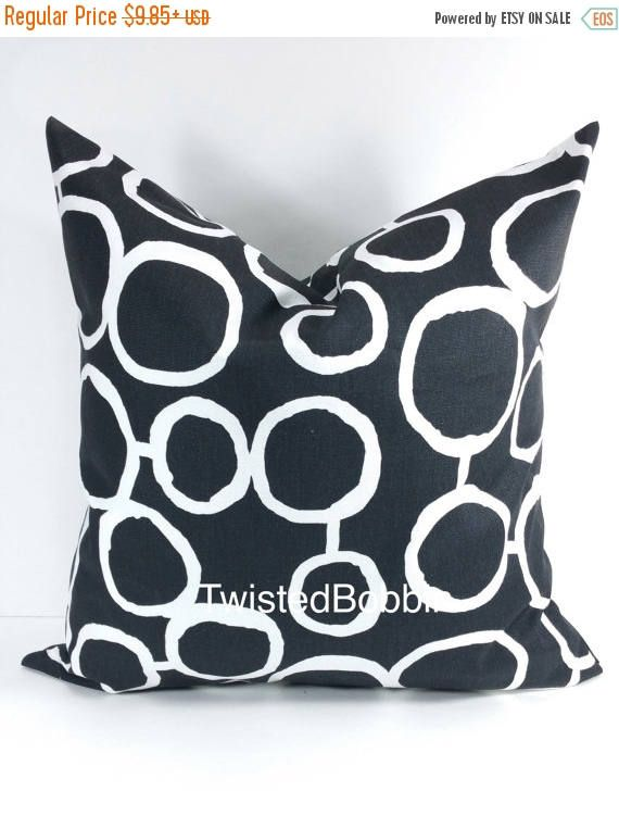 SALE Pillow Cover.Black pillow covers.black and white.Black