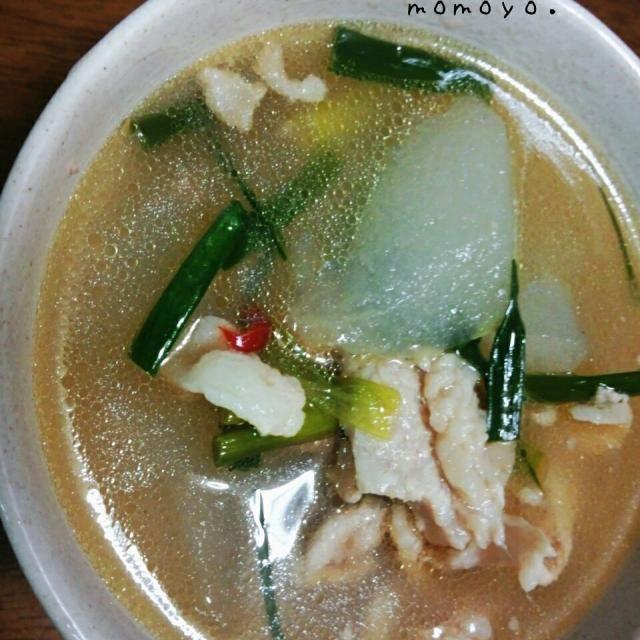 ウエイパーで味付けだから簡単美味しい(^^ ) - 9件のもぐもぐ - 冬瓜と豚肉のスープ。 by aimermomo