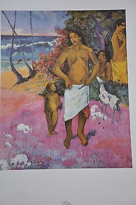 "Bathers by Paul Gauguin Fine Art Print 17"" x 11"" Print is on excellent, thick stock paper with a semi-glossy finish. It is in excellent condition. The back side of the print has an interpretive descri"