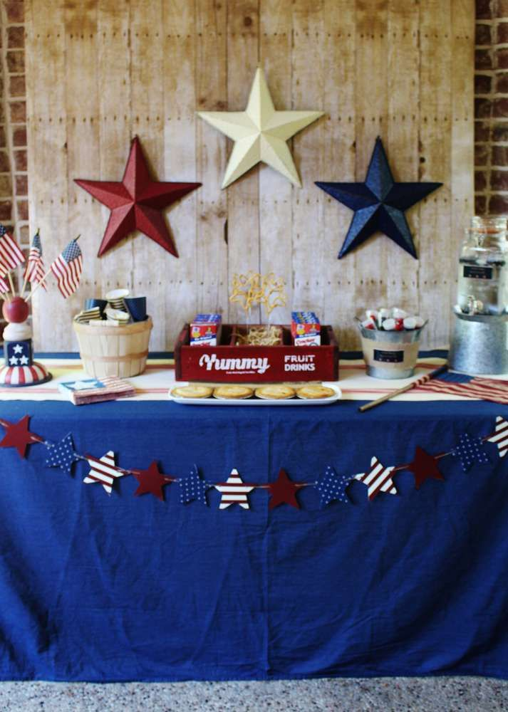 Backyard BBQ Memorial Day party! See more party planning ideas at CatchMyParty.com!