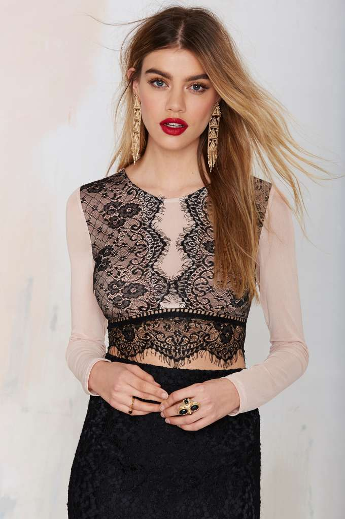 All In Lace Crop Top | Shop Clothes at Nasty Gal!