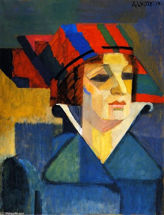 Scottish Hat, 1915 by Andre Lhote (French 1885-1962) - Oil On Canvas - (Musee des Beaux-Arts de Bordeaux (France)