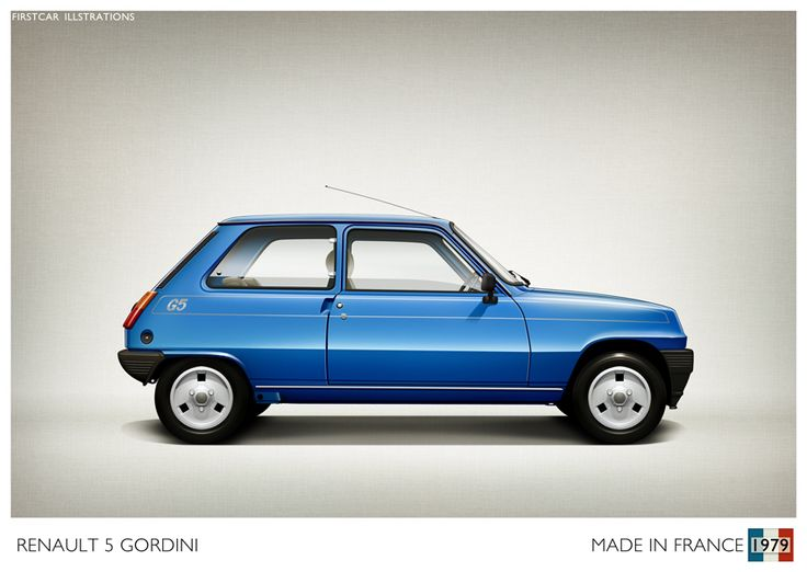 1979 - RENAULT 5 GORDINI (ALPINE IN EUROPE) - firstcar illustrations