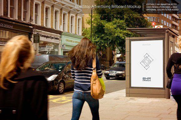 BusStop Advertising Billboard Mockup - Product Mockups