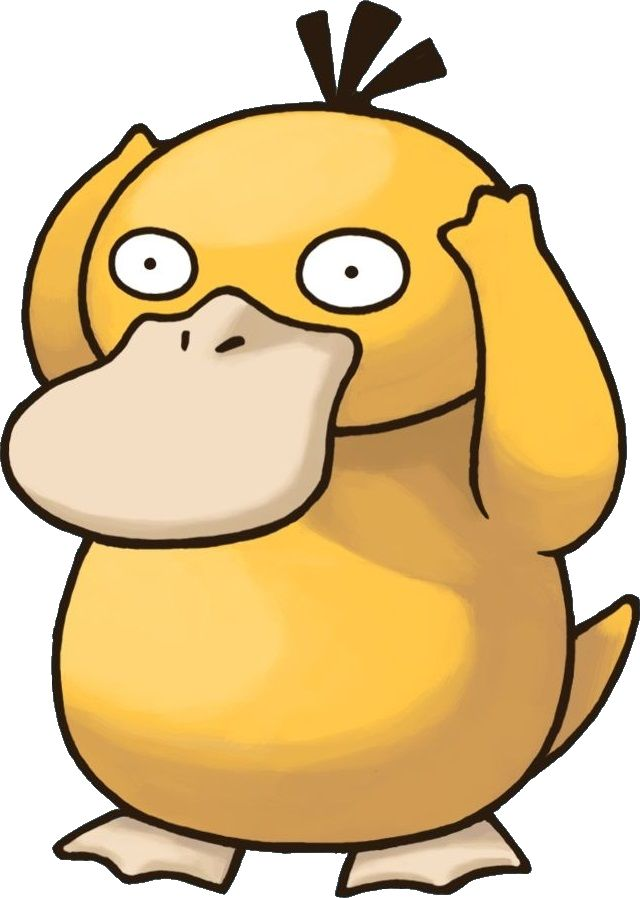 """Psyduck (コダック Koduck?) es un Pokémon de tipo agua. Su nombre japonés significa """"patito"""". http://hechosyvidas.blogspot.pe/2016/09/psyduck.html"""