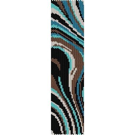 SALE HALF OFF Instant Download Beading Pattern Peyote Stitch Bracelet Turquoise Waves Seed Bead Cuff                                                                                                                                                      Plus