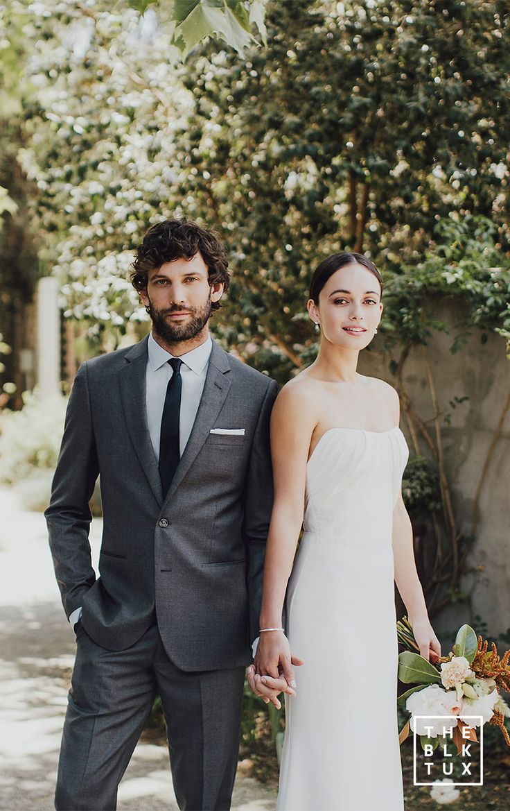 the black tux 2017 online tuxedo rental service grey gray charcoal suit black tie casual wedding dress style inspiration -- Suit Up in Style, The Black Tux Way