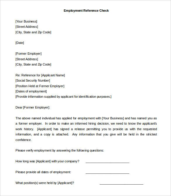 Employer Recommendation Letter For Employee