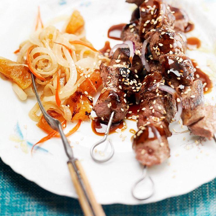 #recept #wild Eendenspiesjes met spicy witte ui