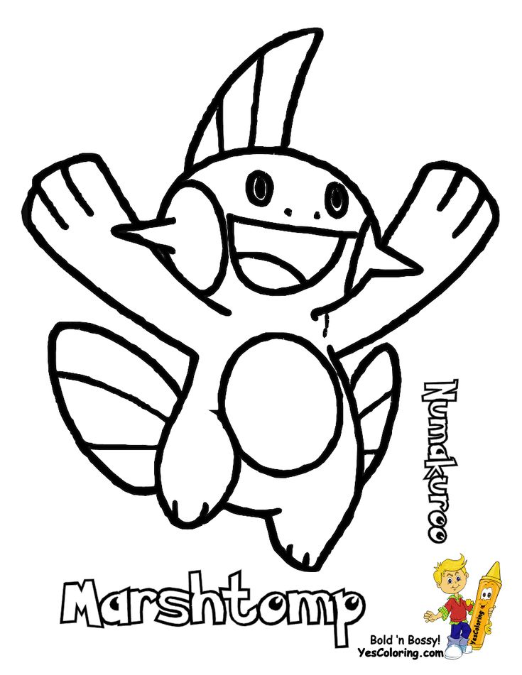 mudkip coloring pages - photo#25