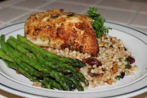 Mish Meals Stuffed Chicken Breast with Israeli Couscous