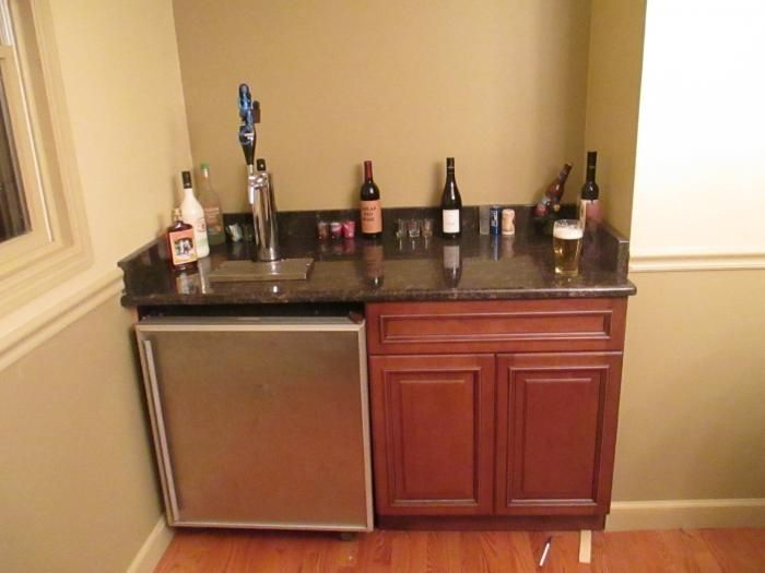30 best images about bar ideas on pinterest for Home bar with kegerator space