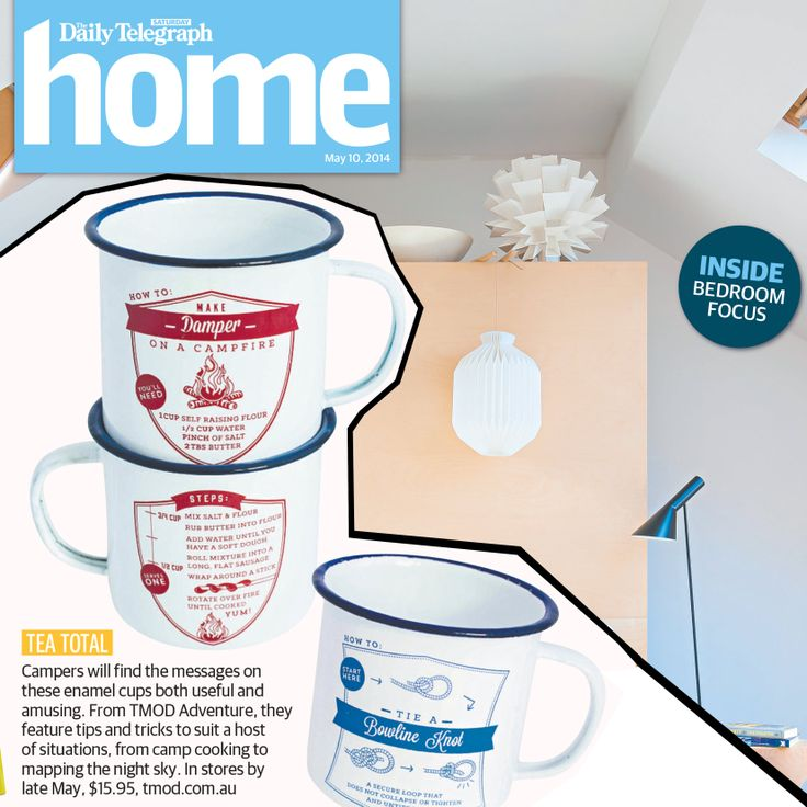 The Daily Telegraph with TMOD Enamel camping cups