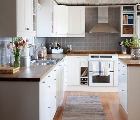 M s de 25 ideas fant sticas sobre encimeras de cocina - Cocina pequena ikea ...