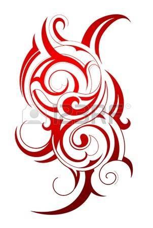 Dekorativní tetování s kmenovými uměleckými prvky photo