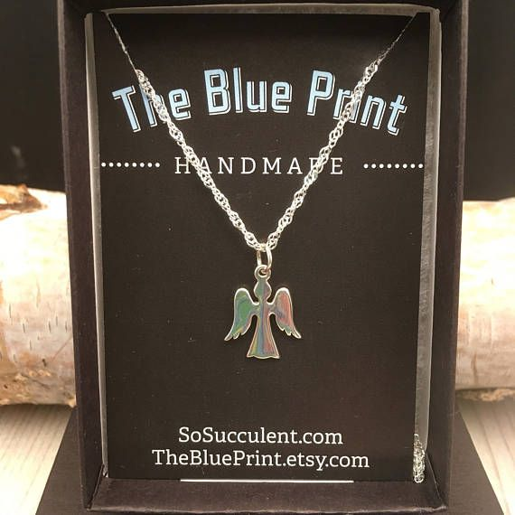 Angel Sterling Silver Charm ,Necklace, Teenager gift, Angel gift, co-worker gift, little girl gift, Bff Gift, daughter gift, by theblueprint. Explore more products on http://theblueprint.etsy.com