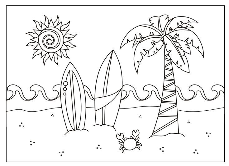 Free Printable Summer Coloring Pages For Kids Summer Coloring Pages Summer Coloring Sheets Beach Coloring Pages