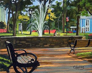 Glastonbury Painting - Center Green Glastonbury Connecticut   by Christine Hopkins