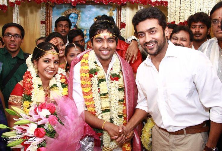 Suriya at G V Prakash and Saindhavi Marriage