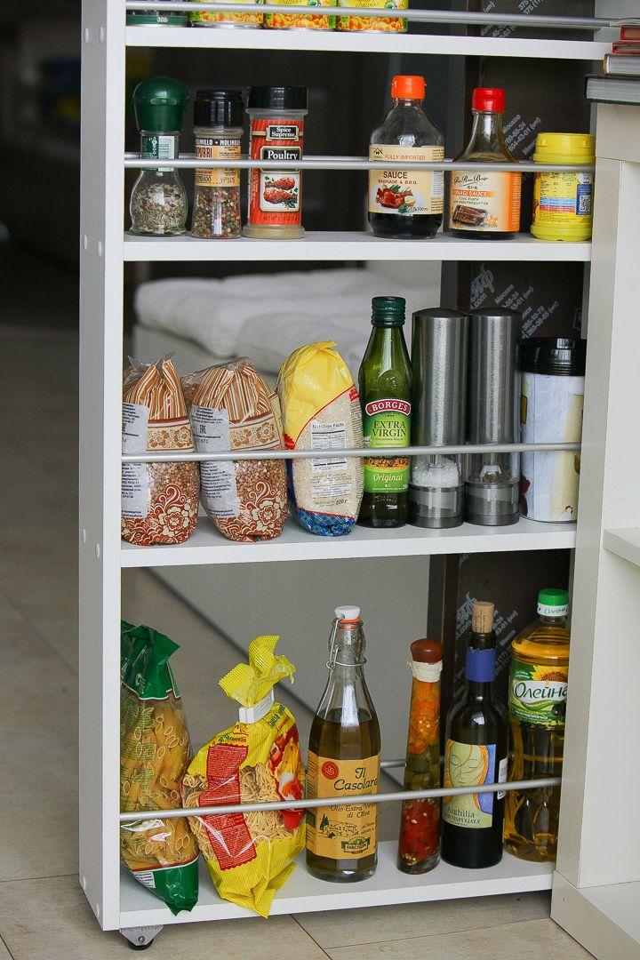 Полка выдвижная, для кухни и ванной комнаты (4-х этажная)
