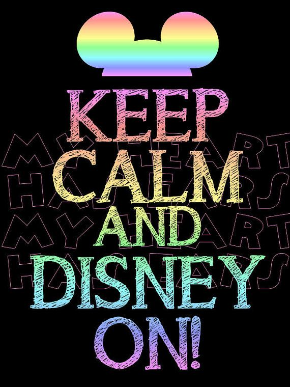 Printable digital clip art instant download Keep calm and Disney by MyHeartHasEars DIY iron on transfer for t-shirts