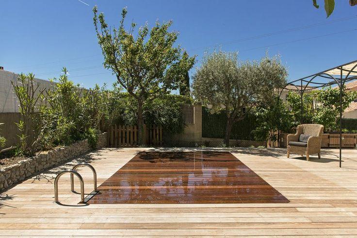 piscine fond mobile en bois