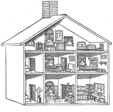 barbie coloring pages dresser | 195 best dollhouse illustrations images on Pinterest ...